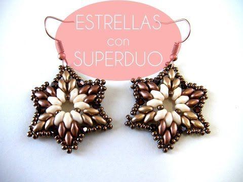 ▶ Abalorios Manualidades - Estrella con cuentas Superduo - YouTube