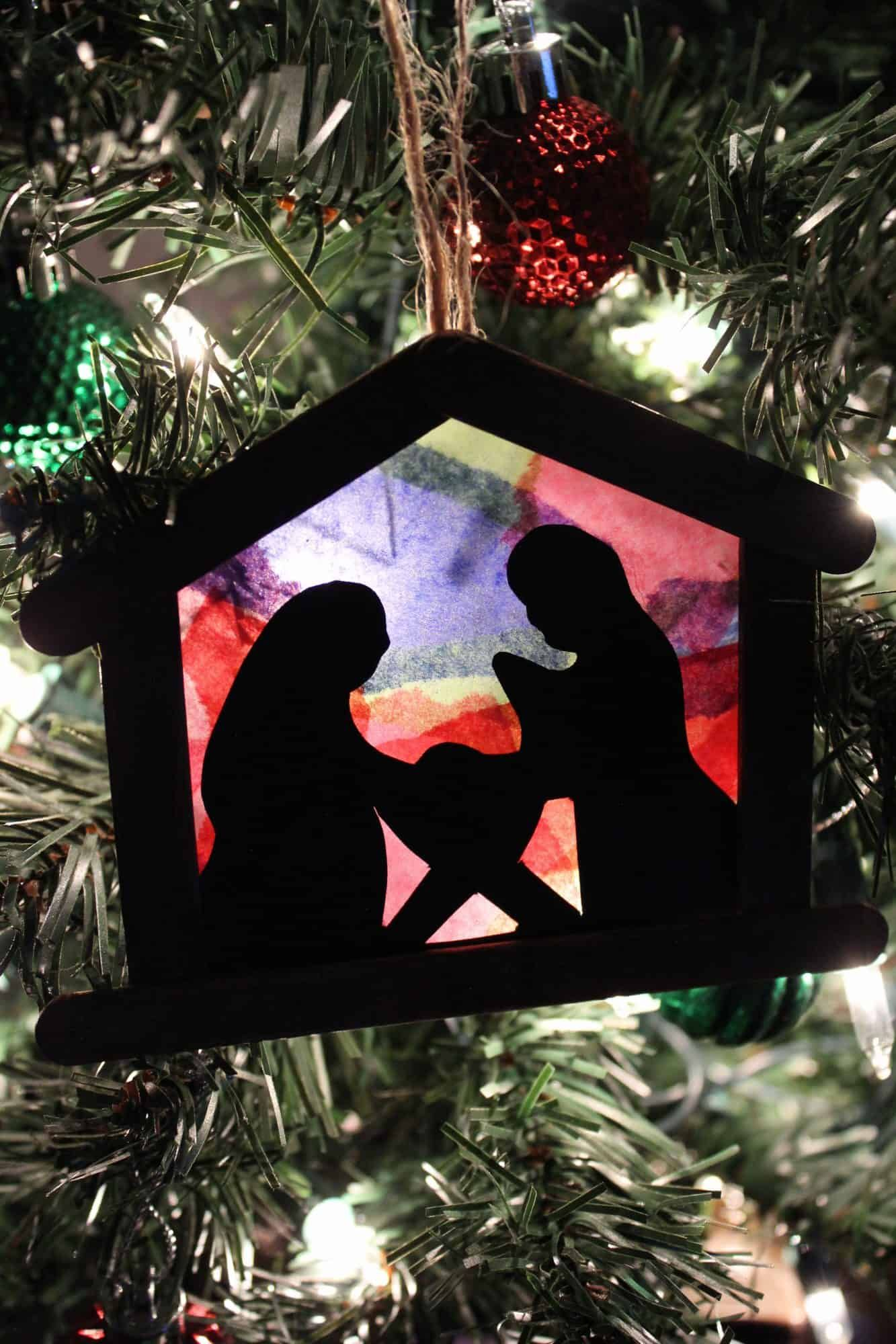 Diy Stained Glass Nativity Ornament Diy Christmas Tree Ornaments Nativity Ornaments Christmas Mosaics