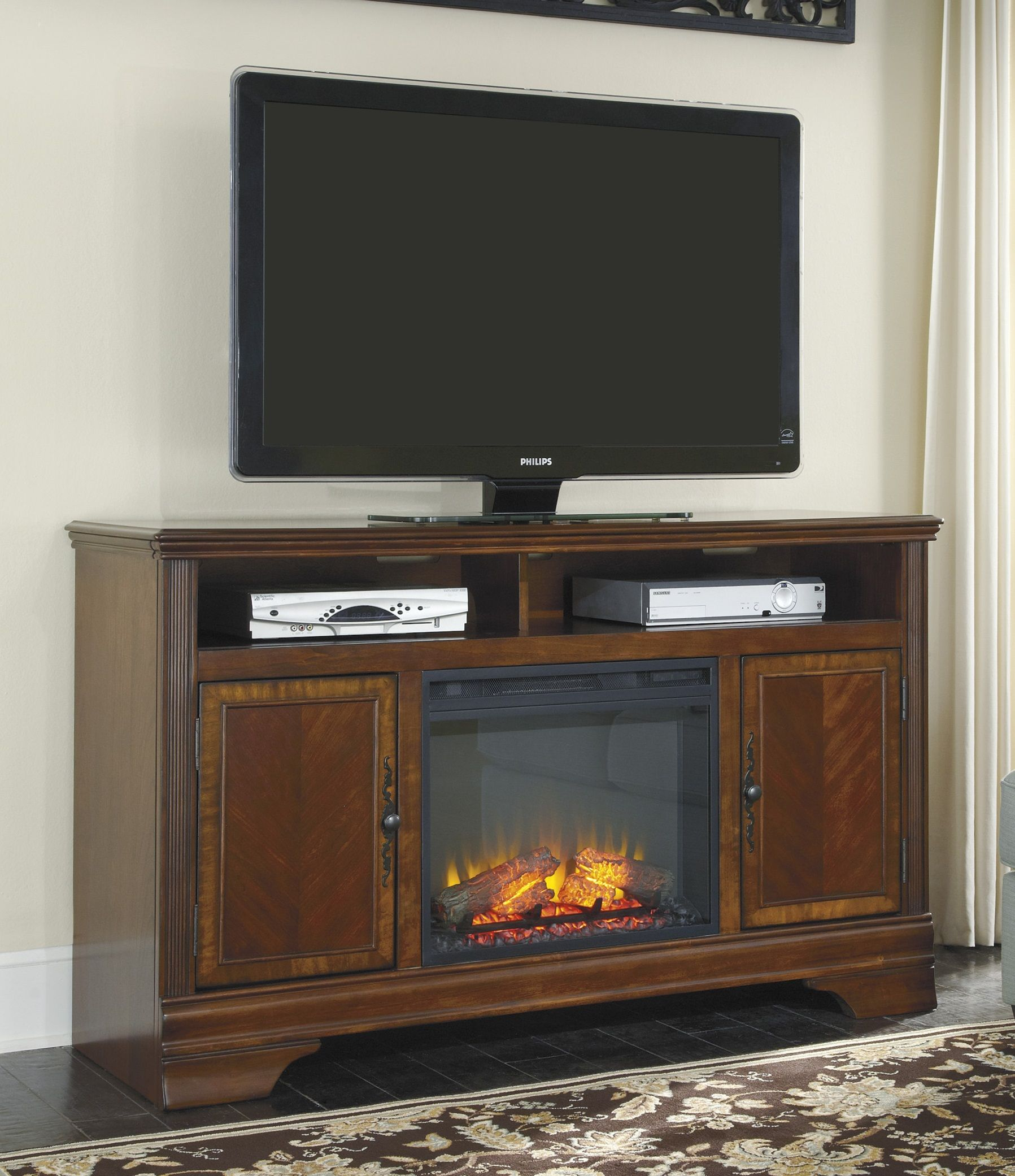 Hamlyn 60 Xtall Tv Stand With Fireplace W527 68 W100 01 Home