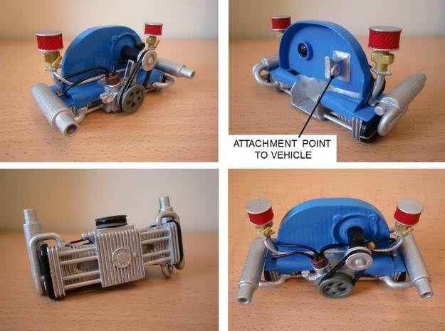 [WQZT_9871]  Scale engine replica for tamiya sand scorcher and by snavon on Shapeways |  Tamiya, Remote control cars, Engineering | Vw Engine 3d Diagram |  | Pinterest