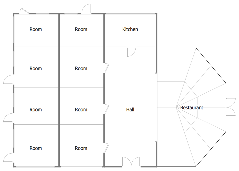Minihotel floor plan sample building plans floor plans for Free floor plan template excel