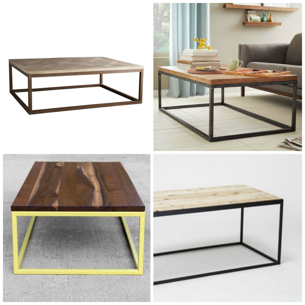 Diy Modern Metal Coffee Table Aka The Time I Attempted To Build Furniture Coffee Table Coffee Table Metal Frame Diy Modern Furniture