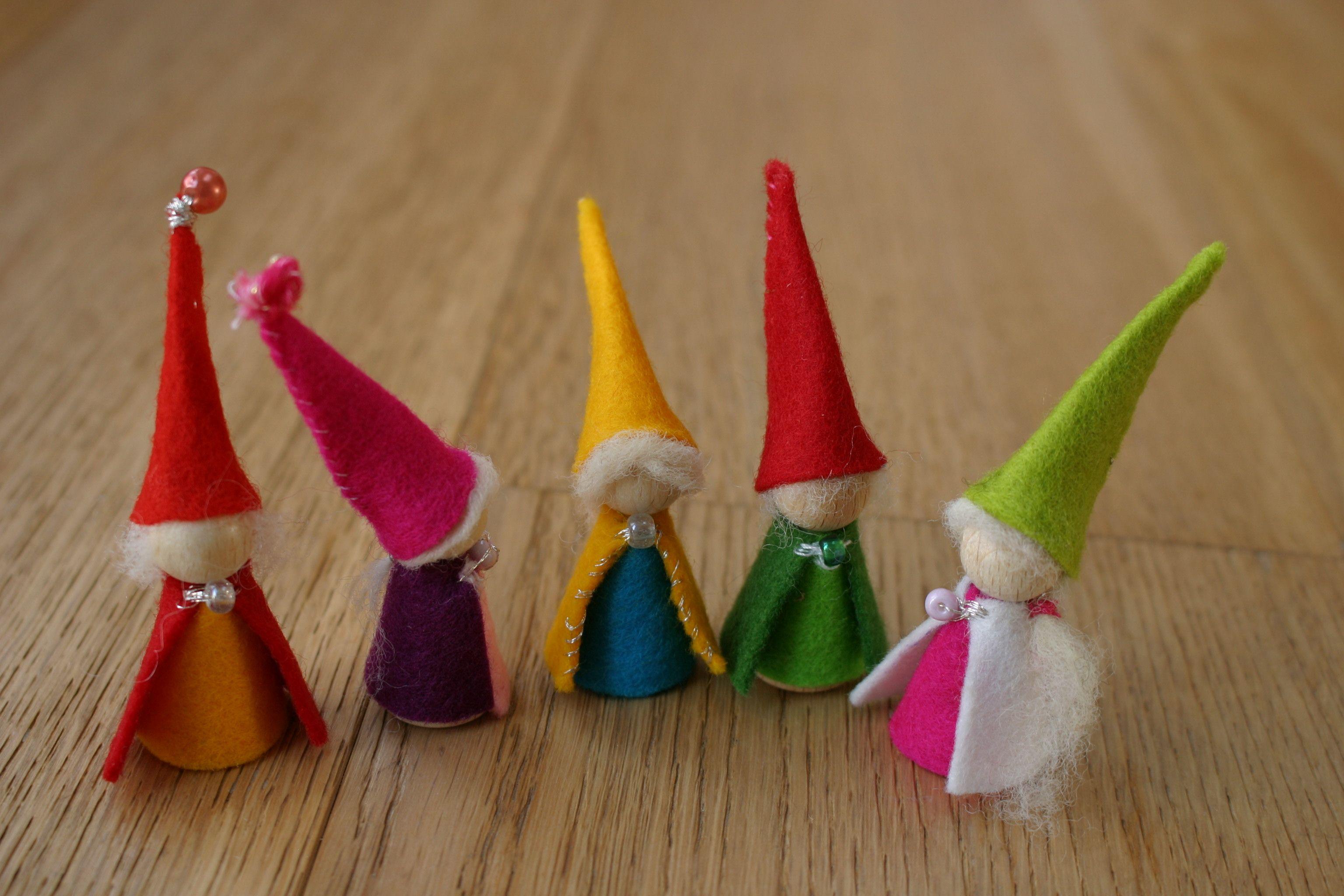 Peg dolls - gnomes.