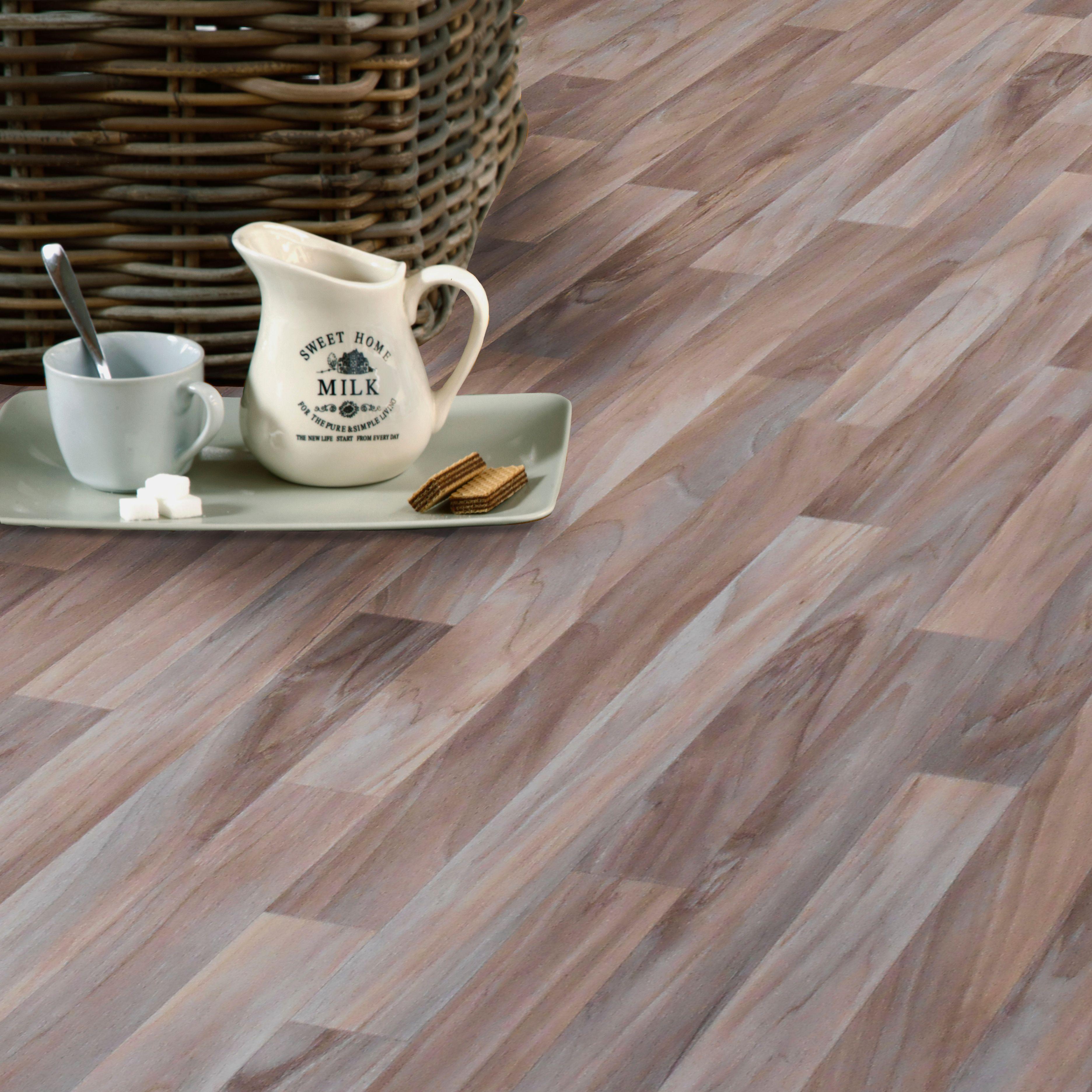 Natural Wood Effect Vinyl 4m² Sheet | Departments | DIY at B&Q ...