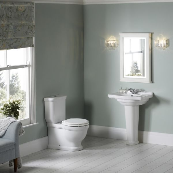 Laura Ashely Bathroom Collection Pavilion 550mm Basin Pedestal