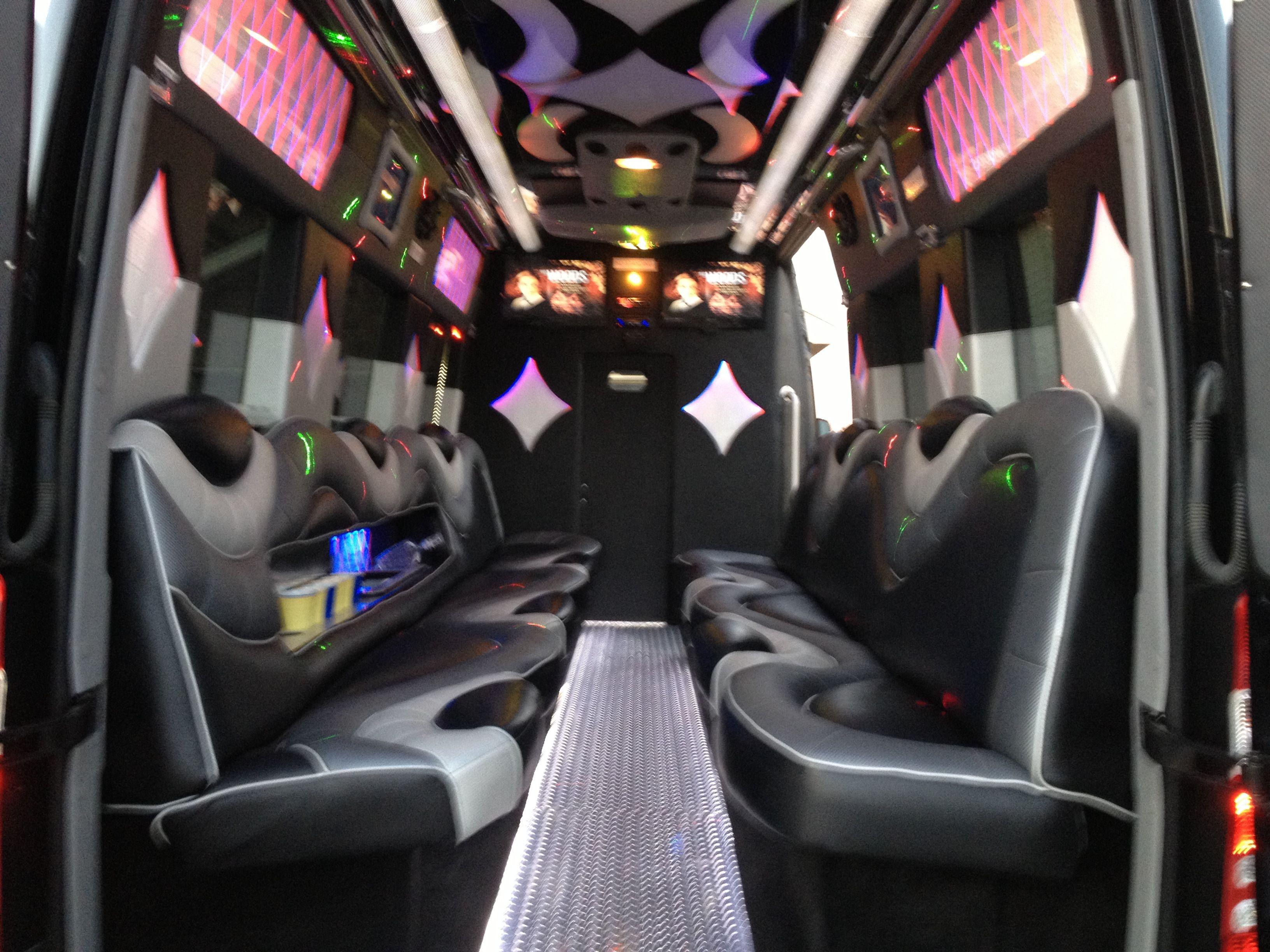 10 12 14 18 passenger mercedes benz sprinter limo bus for miami heat
