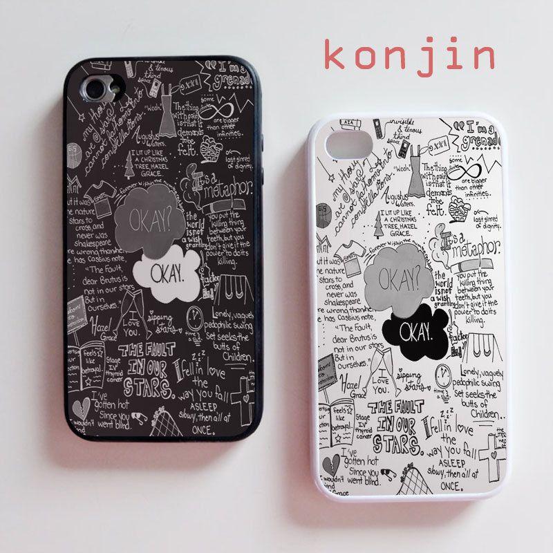 personalised tfios okay okay iphone cases {iphone 4 4s}