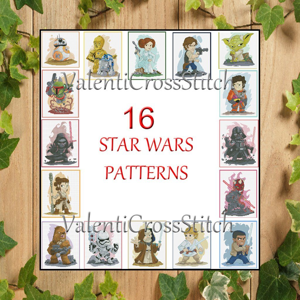 Leia And Han Solo Cross Stitch Pattern DMC Chart Needlepoint Pattern Embroidery Chart Printable PDF Instant Download