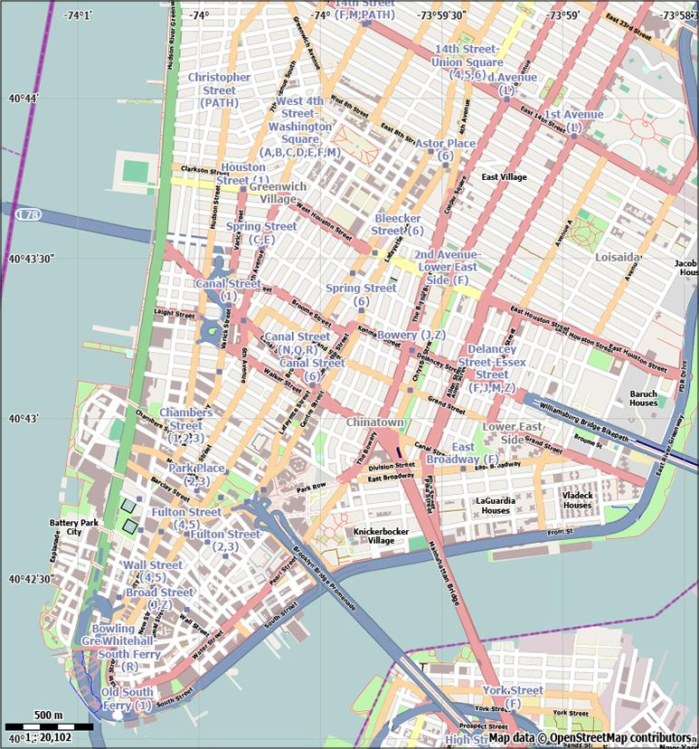 Free New York City Vector City Street Map For Use In Adobe - Free adobe illustrator us map