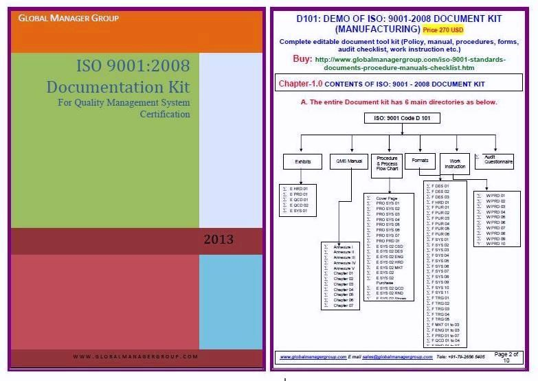 9001isoquality Offers Iso 9001 Time Saving Documentation As Per