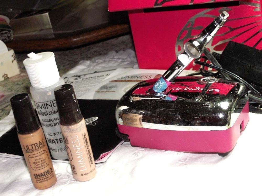 LUMINESS AIR PINK AIR BRUSH SYSTEM Makeup Shades 2 & 3
