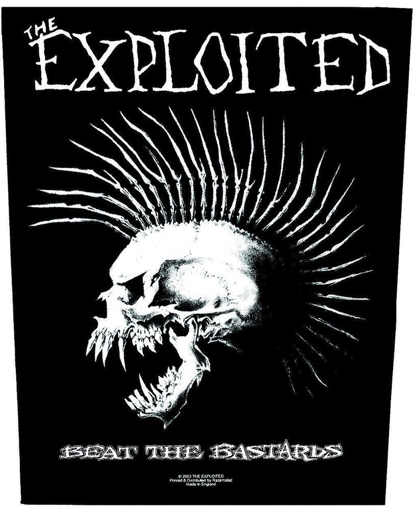 Sewn Edge Patch Logo FREE SHIPPING! Punk EXPLOITED