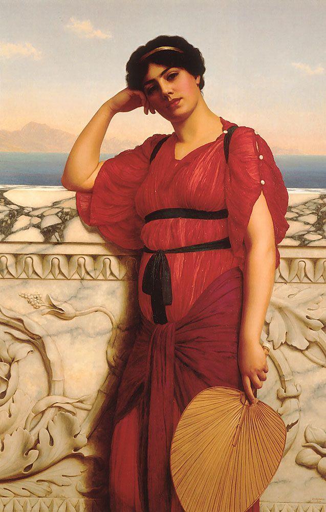 A Classical Lady by John William Godward