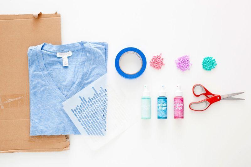 Fransen Shirt selber machen-Materialien-DIY