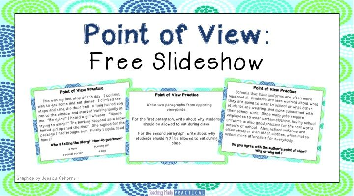 Use this free point of view slideshow to help your 3rd grade or 4th grade students practice point of view within fiction and nonfiction texts.
