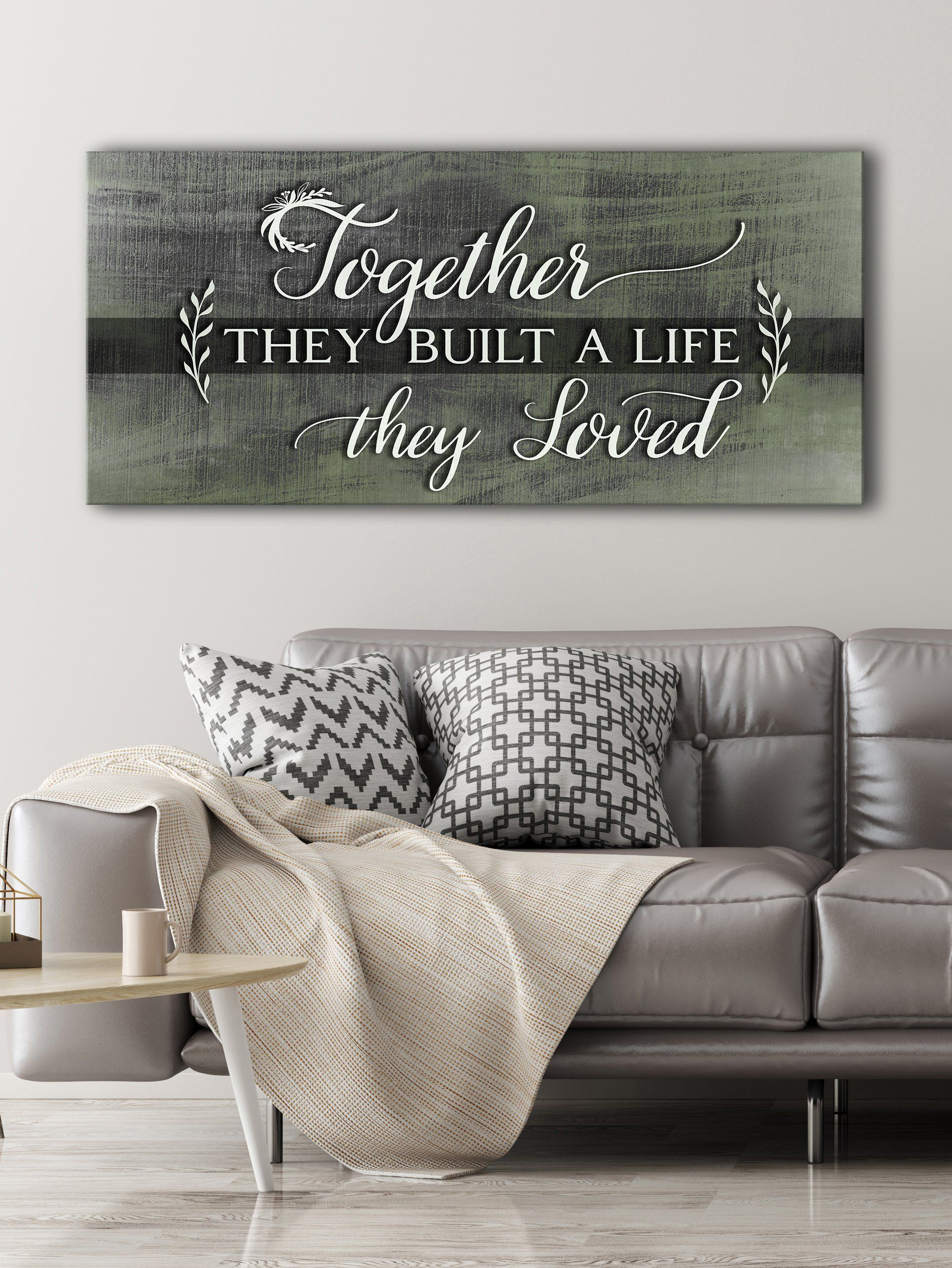 Couples Wall Art Together They Build A Life They Loved V6 Wood Frame Ready To Hang Christian Wall Art Wood Frame Home Wall Art