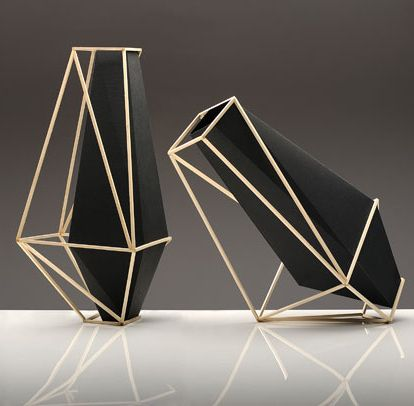 Product Design //Suiza Martin Azua, vessels -  These simple geometric frames are elegant and minimal. I love the modern take on this - celebrating contrast with solid and void.
