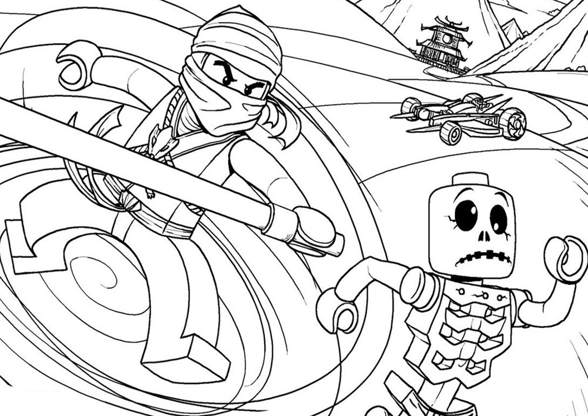Skeleton Fight Lego Coloring Pages Lego Coloring Ninjago