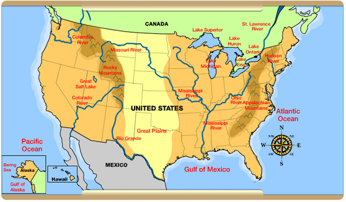 united states map with geographic features Fun Social Studies Games Activities Social Studies Maps