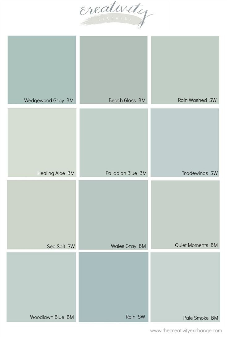 Comparing Popular Blue Gray And Green Paint Colors Cabinet Paint Colors Pinterest Green