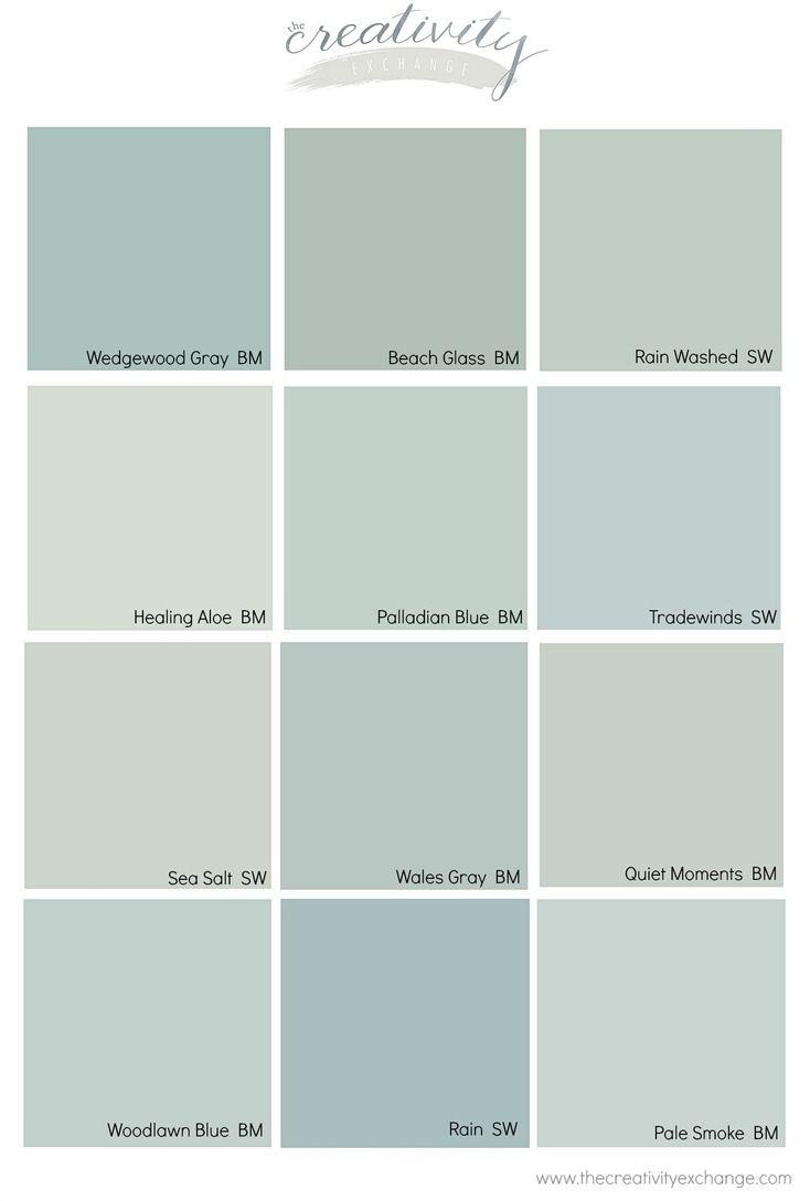 Benjamin Moore Wedgewood Gray Color Spotlight Painting Bathroom
