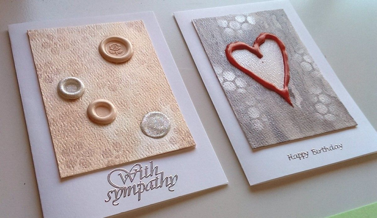 Hot glue 1 and 2 embossed cards hot glue flower stamp