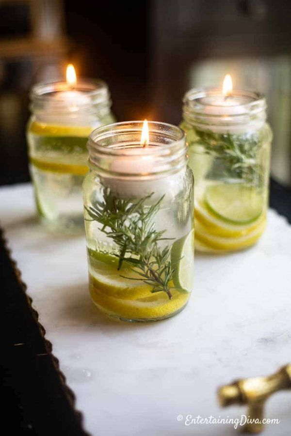 Super Simple DIY Citronella Candles (No wax required!) - Entertaining Diva @ From House To Home