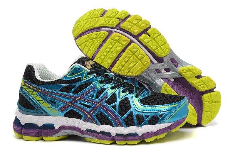 Asics Gel Kayano 20 Mens Running Shoes Bright Blue Black