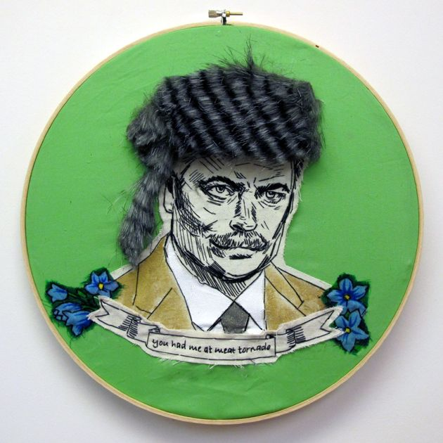 Awesome Ron Swanson #embroidery from @Daisy Stickel Duck jackson   (You Had Me At Meat Tornado) #parksandrec #ronswanson