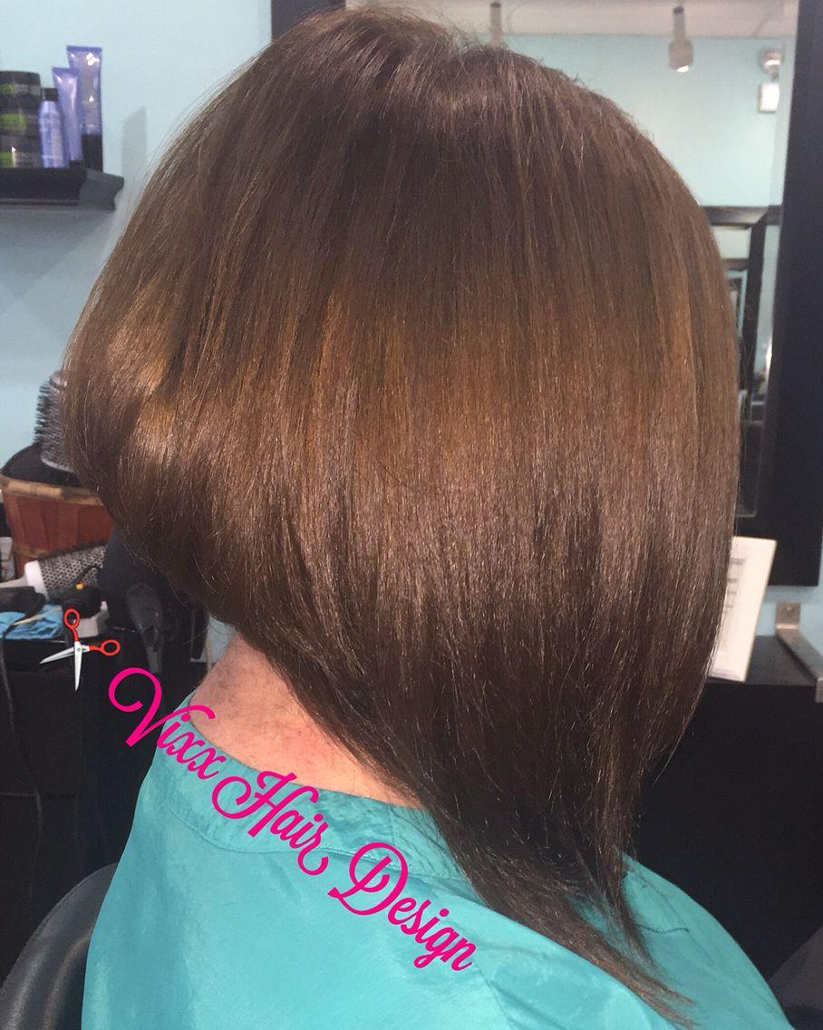 Diagonal Forward Hair Cut
