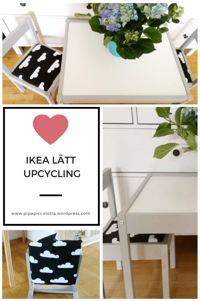 ikea l tt kindertisch und st hle upcycling sitzpolster upcycling und ikea. Black Bedroom Furniture Sets. Home Design Ideas