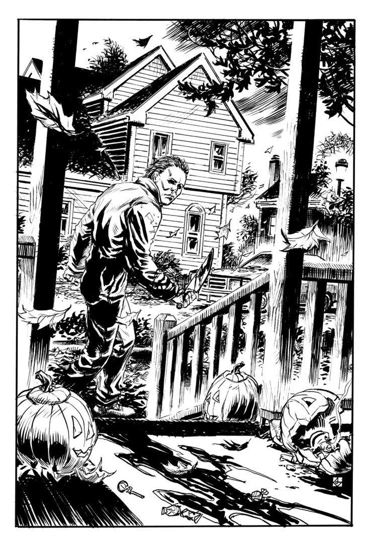 Michael Myers Halloween Dean Kotz Halloween coloring