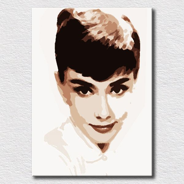 Hot sale painting Audrey Hepburn oil painting on canvas wall art ...