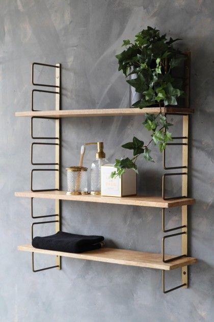 Adjustable Brass Wood Wall Shelf Wood Wall Shelf Kitchen Wall