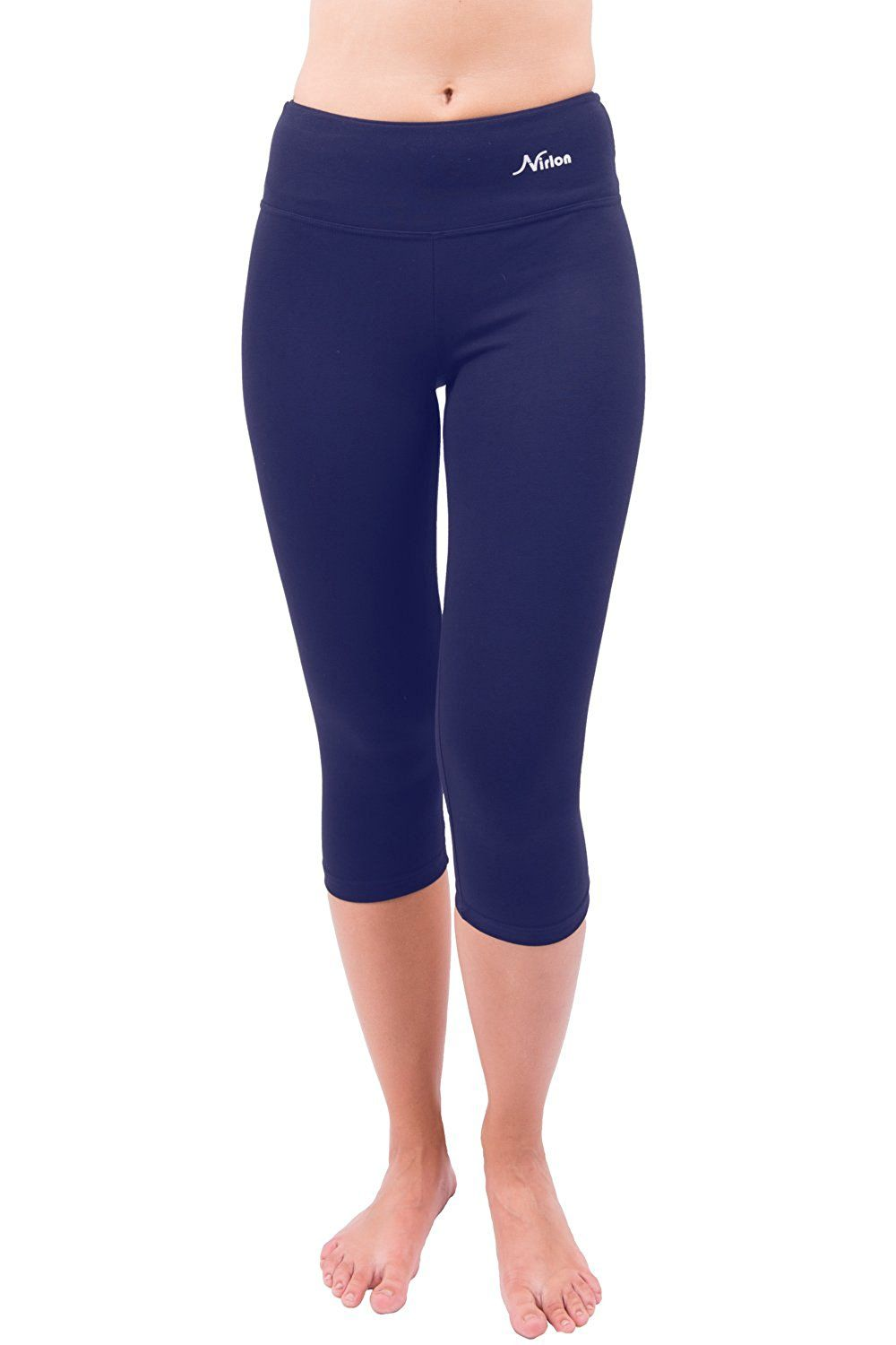 8ee4611d6fa751 Yoga Pants Capri's for Women Best Cropped Leggings Athletic Running Jogging  Workout & Sport Cotton Spandex: Clothing