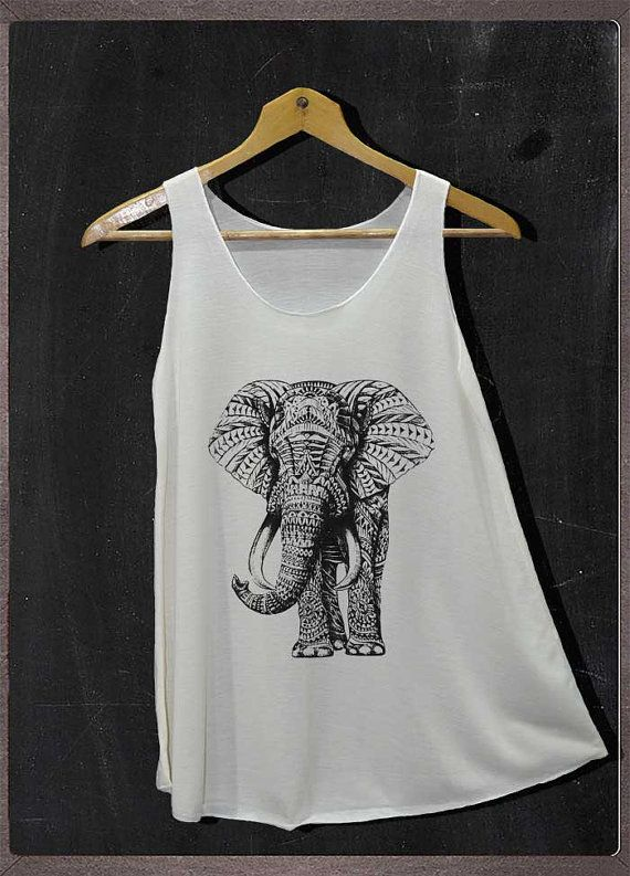 11ce1d1a2e0cd Elephant Animals Graphic Shirt Tank Top Women Size S and M