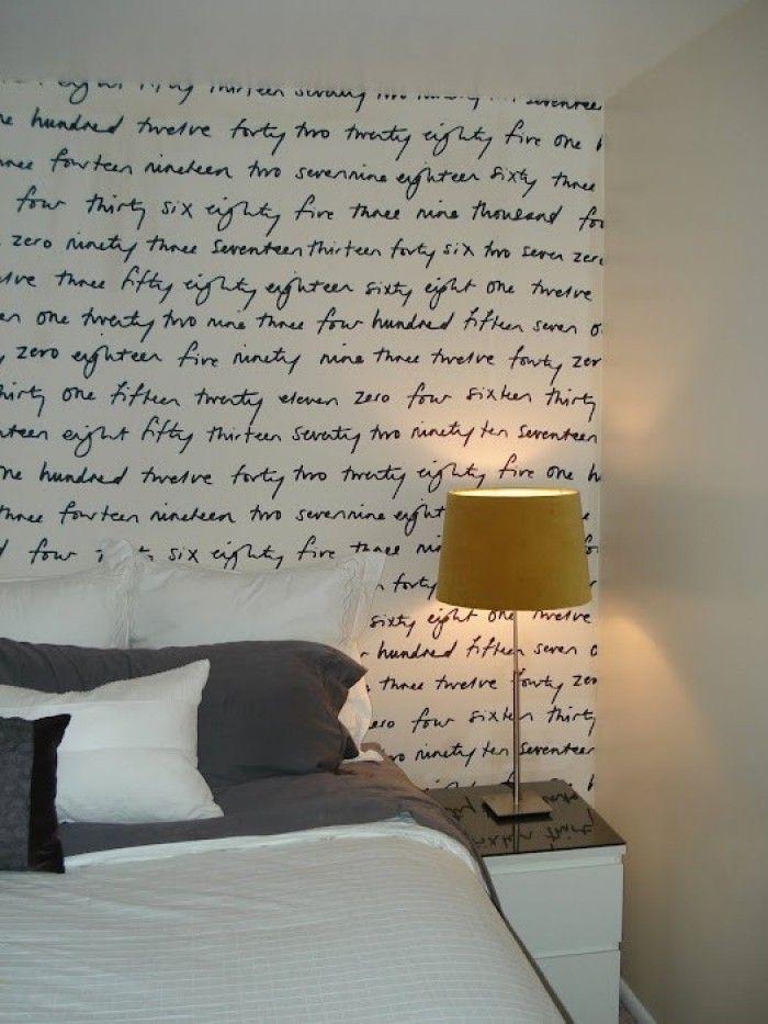 Lieblings-Zitate als Wandgestaltung. Mit einer schönen Schriftart kann jede Wand zum klassichen Kunstwerk werden. Noch mehr Ideen gibt es auf www.Spaaz.de