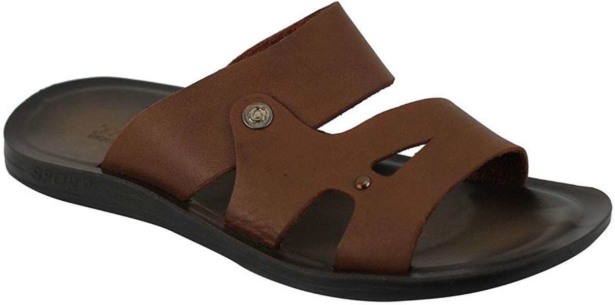 Xposed Marron Clair en Cuir Pour Homme Summer Holiday Sangle