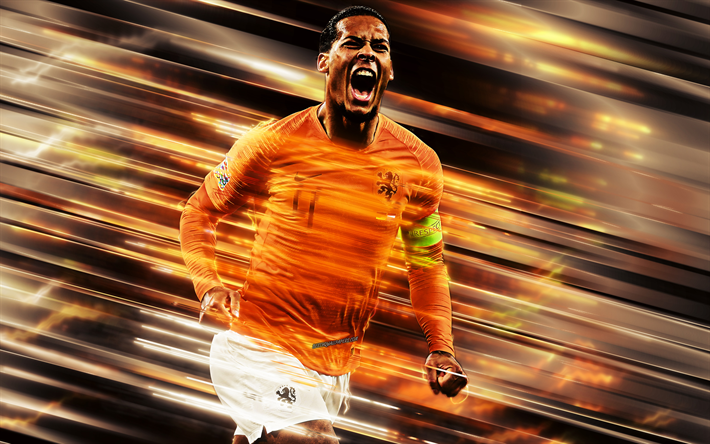 Download Wallpapers Virgil Van Dijk Netherlands National Football Team Defender Portrait Art Orange Background Dutch Football Player Besthqwallpapers Com National Football Teams National Football Football Team
