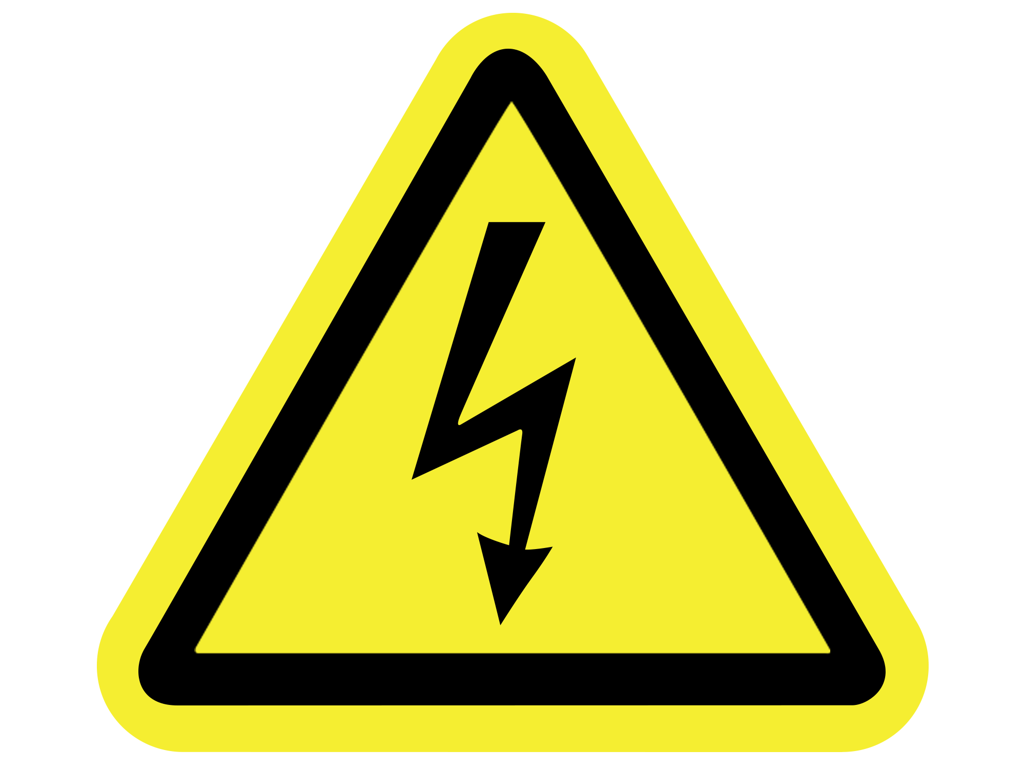 Electricity Hazard Sign High Warning Voltage Hazard Sign Hazard Symbol Yellow Sign
