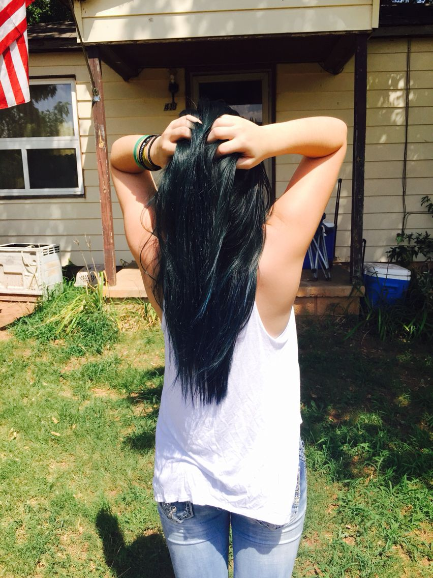 Manic Panic Midnight Blue On Unbleached Dark Brown Hair Manic