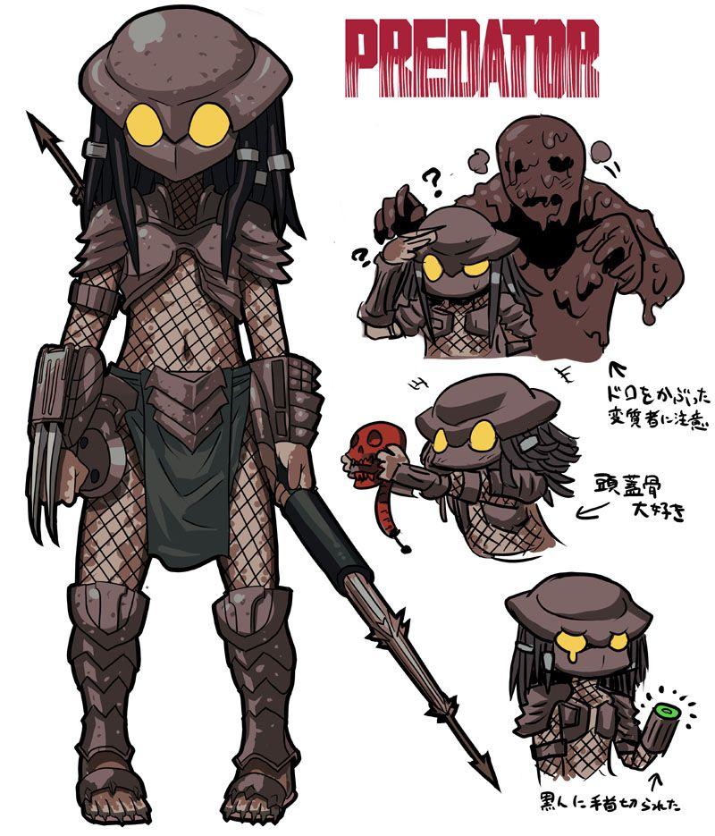 yautja anime Pesquisa Google Horror movie characters