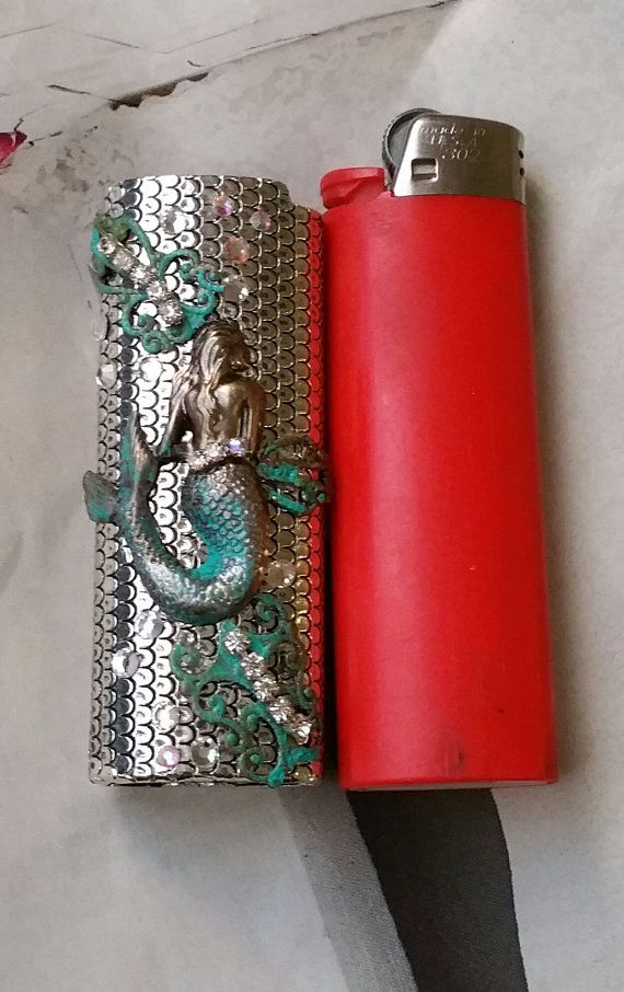 Mermaid Bic Lighter Case by TheBohemianGypsy on Etsy