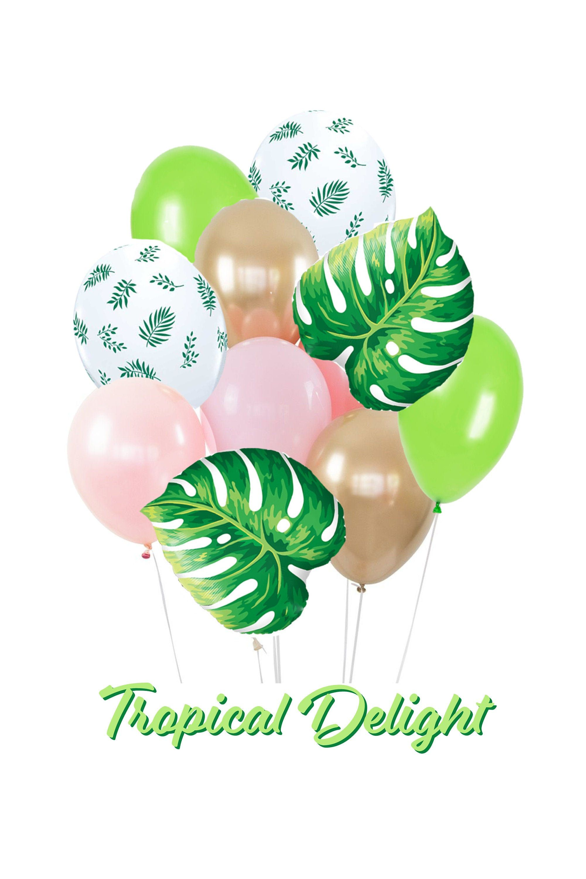 Tropical Balloon Bouquet Bundle Tropic Like It's Hot | Etsy