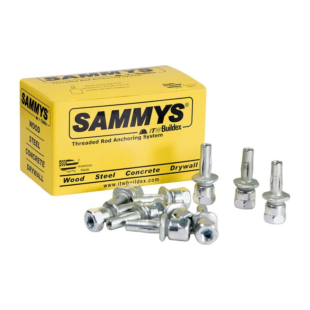 Sammys X Press Vertical Rod Anchor Super Screw With 1 4 In Threaded Rod Fitting For Metal Deck 25 Pack Metal Deck Concrete Light Concrete Wood