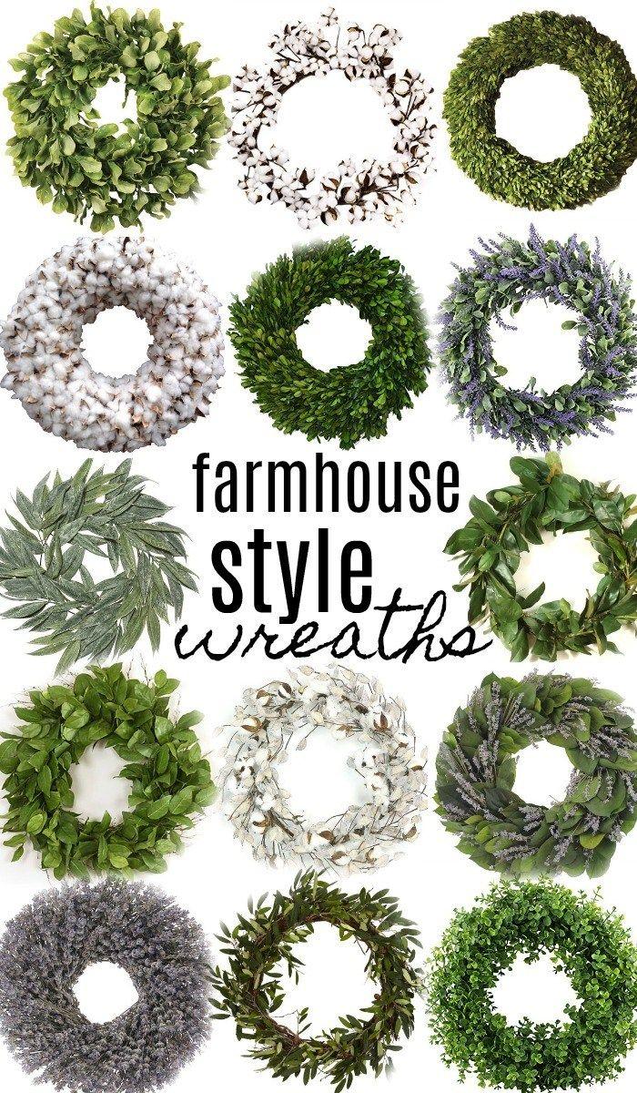 14 farmhouse style wreaths decoration pinterest lemon leaves