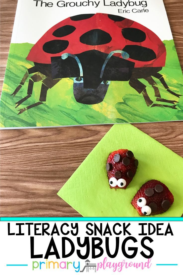 Literacy Snack Idea Ladybug + Free Printable - Primary Playground