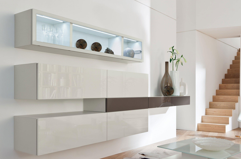 wohnwand modern h lsta. Black Bedroom Furniture Sets. Home Design Ideas