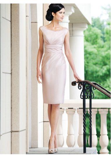 beiges knielanges Kleid   Kleider hochzeit, Abendkleid ...