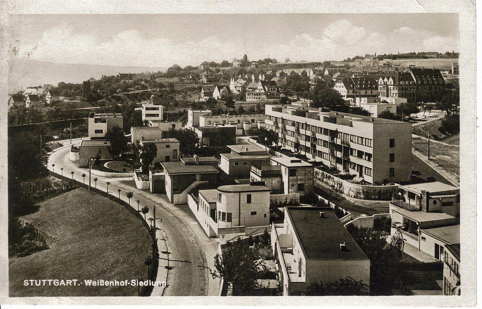 Weissenhofsiedlung werkbund exhibition stuttgart 1927 for Stuttgart architecture